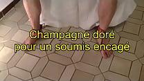 Clip champagne doré pour un soumis chaste