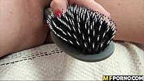 Stacy Snake fucks her pussy with her hairbrush 3