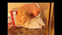 Naked Blonde Girl Puke Vomit Puking Vomiting Gagging and Barf