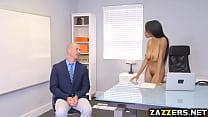 Brittney White sucking Sean Lawless cock deep t...