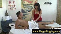 Asian masseuse loves jerking off