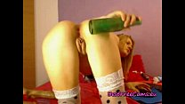 Camgirl Nicole Uses Beer Bottle & A Dildo - eu