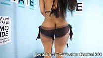 Sexy Exotic Dancer Blaze Strips Nude