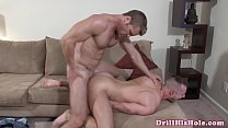 Athletic gaysex hunk drilling bottoms ass