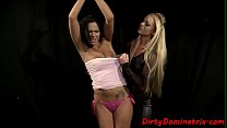 Tiedup babe submission to rough dominatrix