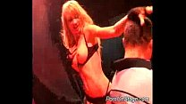 Naughty stripper babe on stage