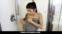 FamilyStrokes - My step-brother always knows when I'm In the shower