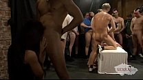 18yo Veronika with 50 guys in bukkake gangbang Part 2