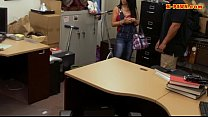 Latin hottie sells her TV and pounded at the pawnshop