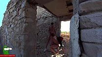 She eats all his cock in an abandoned place away from his house CRI019