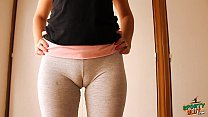Big Cameltoe Teen In Yoga Pants, Stretching and Working Out!