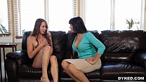 Dyked - Lesbian Mom Seduces and Scissors Hot Teen