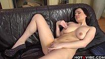 Big Titties babe enjoys a pussy rubdown