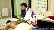 Black masseuse sucking