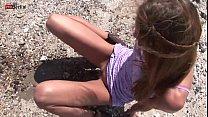 Eroberlin Gilda Roberts danish beach bikini masturbating pissing skinny