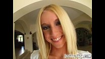 Ass Traffic Thin blonde with pink fishnets spre...