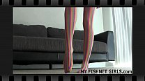 My soft stockings will make you hard in seconds JOI