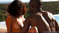 Exotic Ebony Couple ignore The World