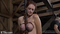Titty torment for naughty chick