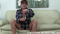 Lube up, stroke off, and eat your cum CEI