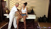 Fooled ebony massage jizz
