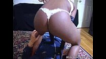 Ebony lady sits on man's face and farts directly on him