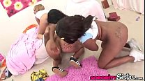Ebony Lesbians Lacey Duvalle, Candice Nicole, Melrose Foxxx