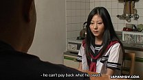 sex with debt father's her clearing teen Asian