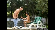 Sabrine Maui Asian Chick Poolside Outdoor Fucking