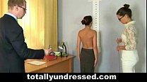 babe secretary for interview job nude Tough