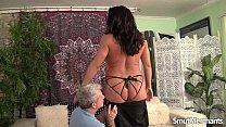 Mature Brunette takes fat dick