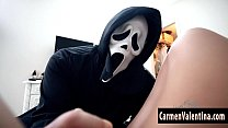 Carmen Valentina Has A Halloween Trick!