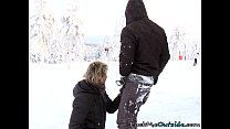 Fucking his ski instructor to stay warm in the cold