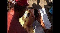 Eva sumisa de yuvutu en la playa de la tenerife