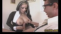 Sexy latin milf Mikayla Mendez hot office fuck