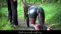 Full day exploitation of a bondage slave part 1 part 2