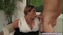 cowgirl in banged gets bbw Cocksucking
