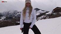 Eroberlin russian Anna Safina sexy ski pussy op...