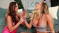 Samantha Saint & Abigail Mac Christmas Fun