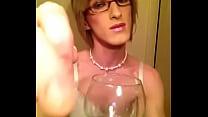 Eating my cum- Crossdresser Sissy Fay