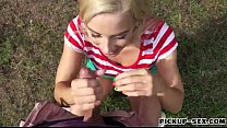 Eurobabe Nesty gets pounded in the park