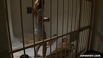 Lesbian porn action inside of a prison cell