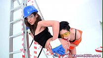 Enema squirting lesbians analplay with beads