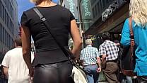 legging de couro transparente
