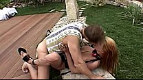 Two blondes in latex brutally fucked by Rocco S...
