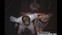 Tattoo Slut Fucked in Porn Theater
