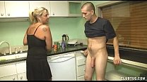 Dominant Milf Handjob In The Kitchen