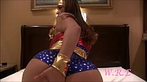 Latina superhero Miss Raquel fucks her ass
