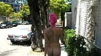 Nude in San Francisco: Fushia walks naked all t...