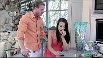 Tiny Step Daughter Get A Hard Lesson From Her S...